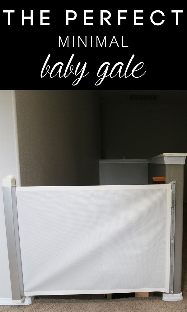 The PERFECT modern, minimal baby gate for a safe and stylish home. Great video and pics on Petite Modern Life!