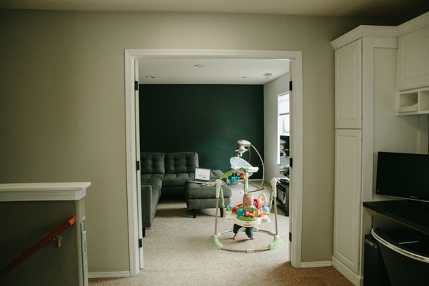 A classic upstairs update simply with new paint and hardware.   Petite Modern Life