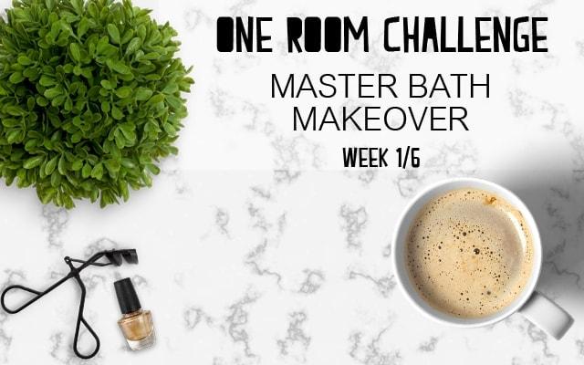One Room Challenge: Master Bathroom Makeover
