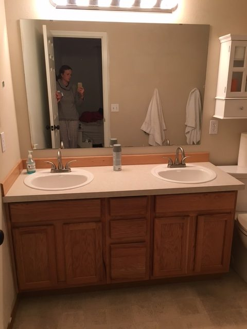 spray painted countertops