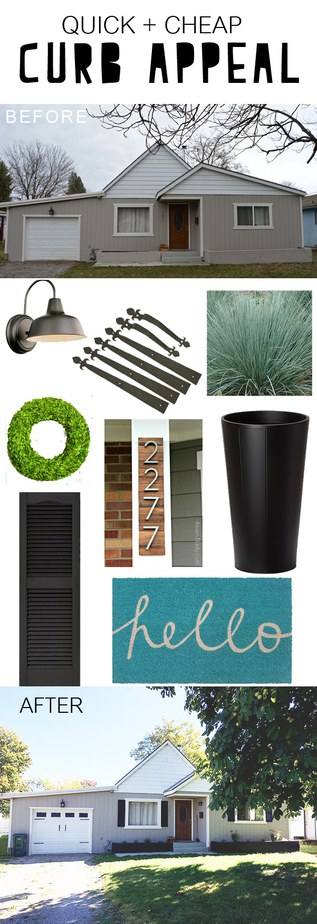 Cheap + Quick Curb appeal to get your house looking fab and noticed!