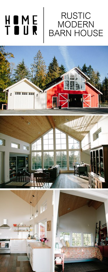 Gorgeous rustic modern barn house with minimal style.