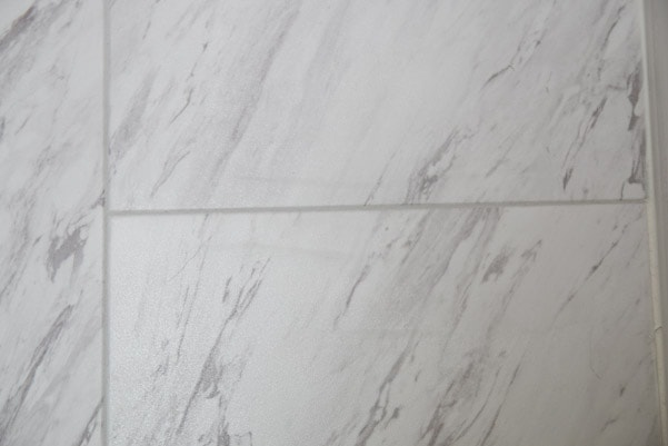 How grouted laminate tiles holds up