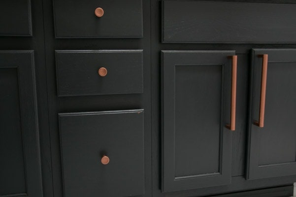 How the painted vanity and hardware is holding up