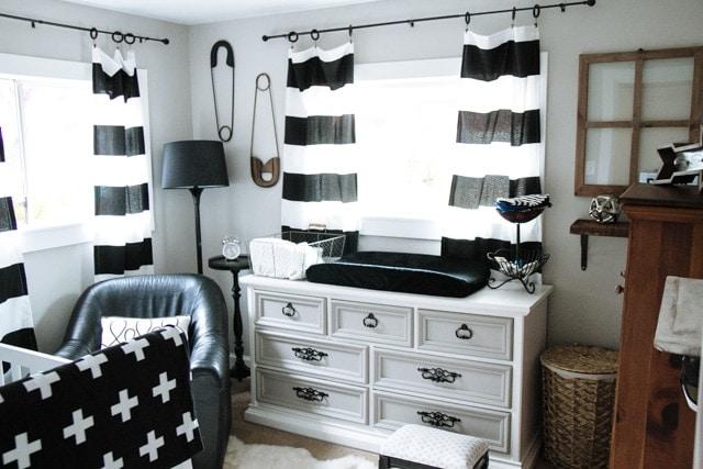 Black White Gray Modern Nursery