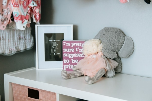 Coral And Gray Modern Nursery Petite Modern Life