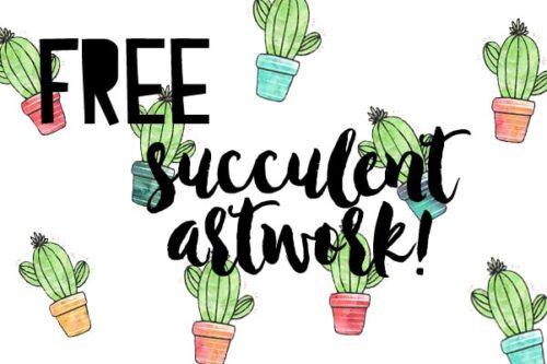 Free Succulent Artwork | Petite Modern Life