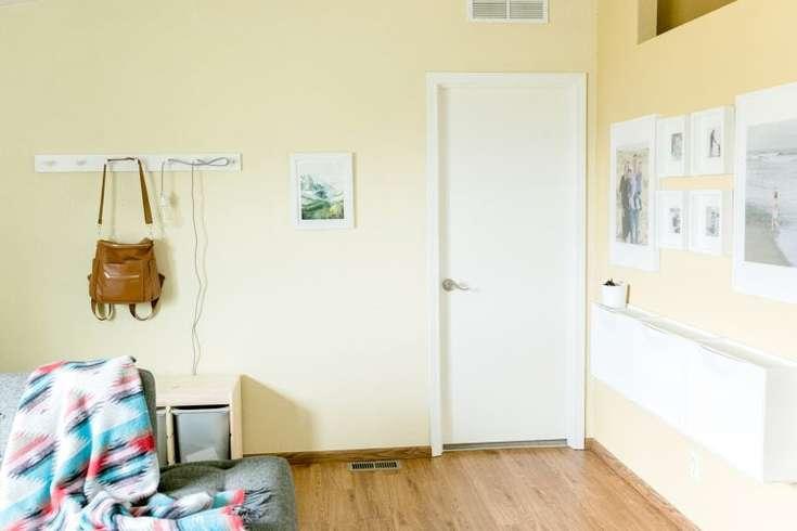 ranch house entryway storage