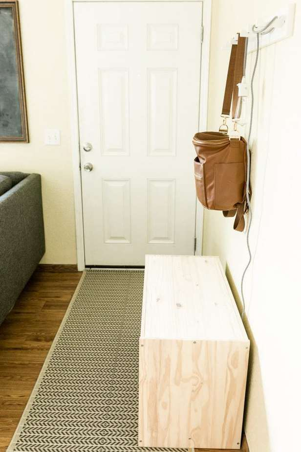 ranch house entryway storage