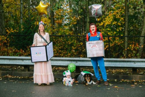 Mario Kart family halloween costumes