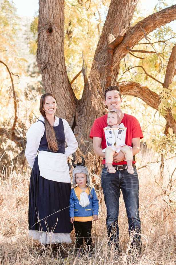 DIY Beauty and the Beast Family Halloween Costumes