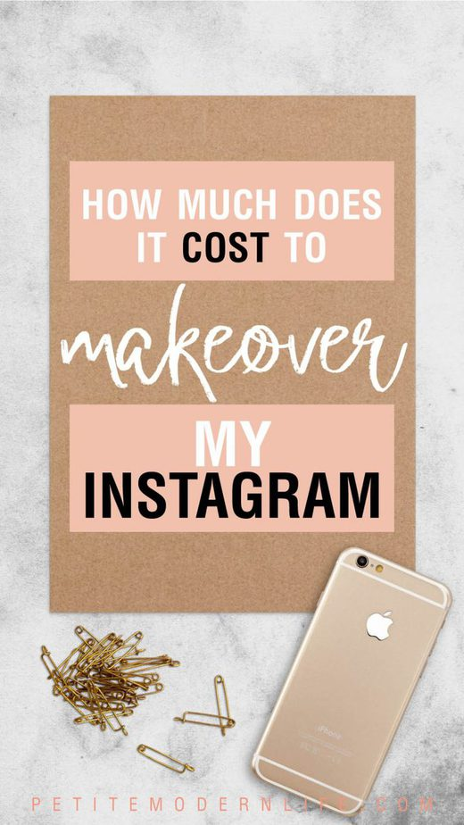 How much does it cost to makeover my Instagram pin