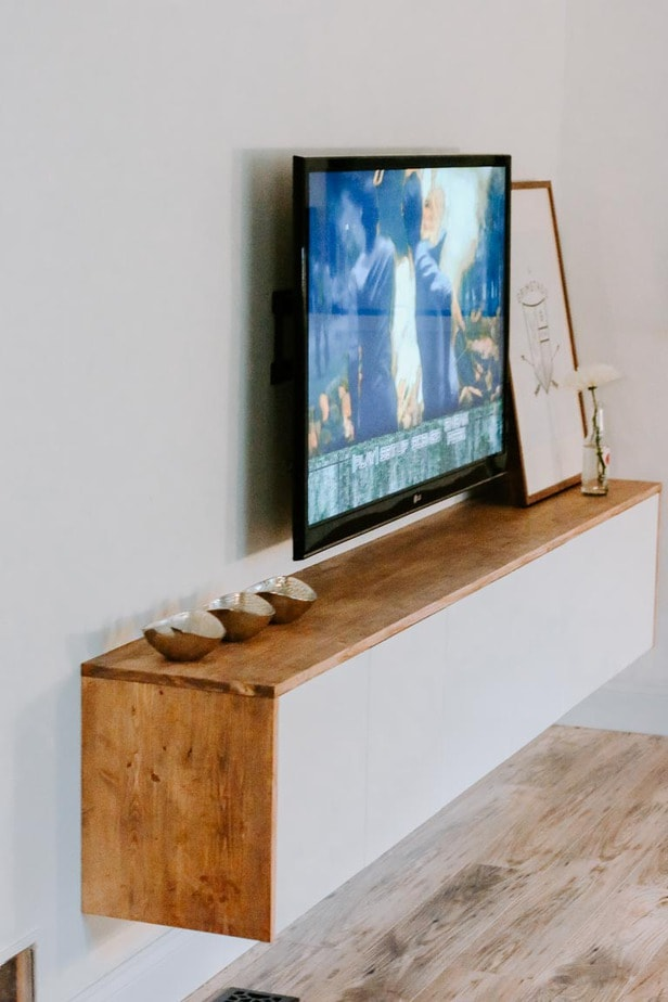 build your own ikea floating sideboard entertainment center