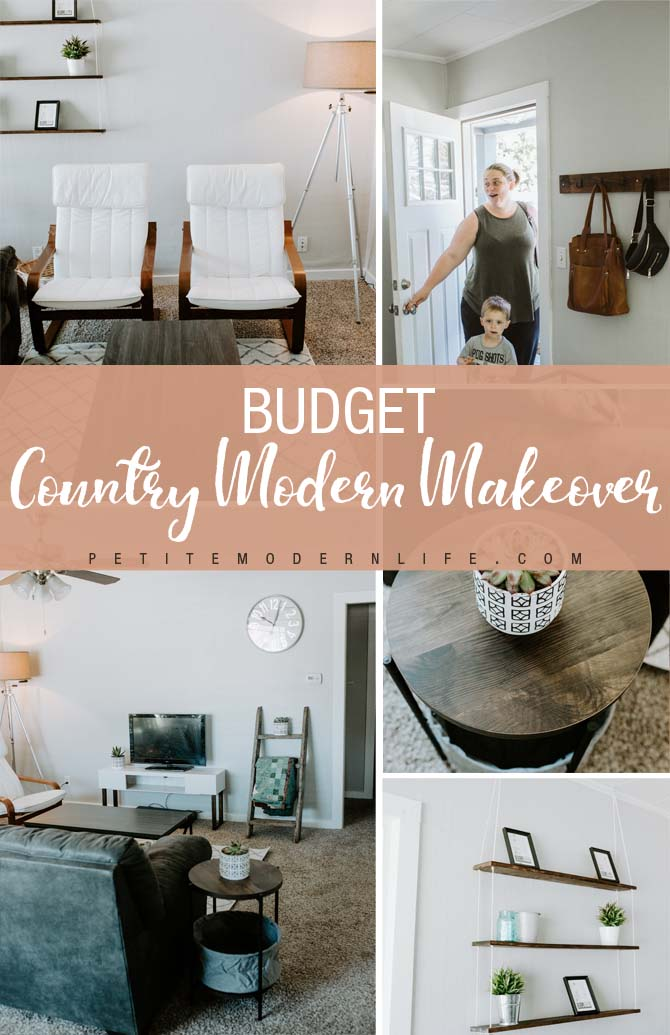 Budget Country Modern Living Room Makeover Petite Modern Life