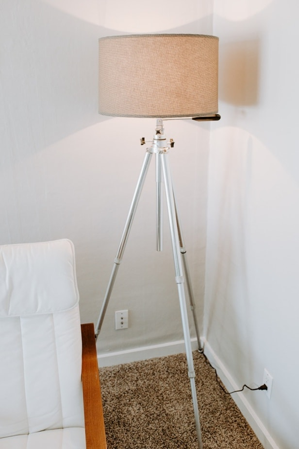 DIY industrial modern tripod lamp