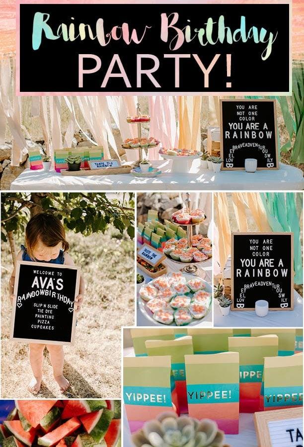 Toddler Summer Rainbow Birthday Party