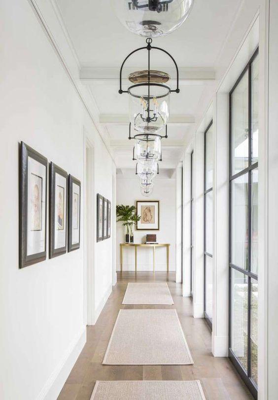 European Farmhouse Hallway Hanging Light Fixtures
