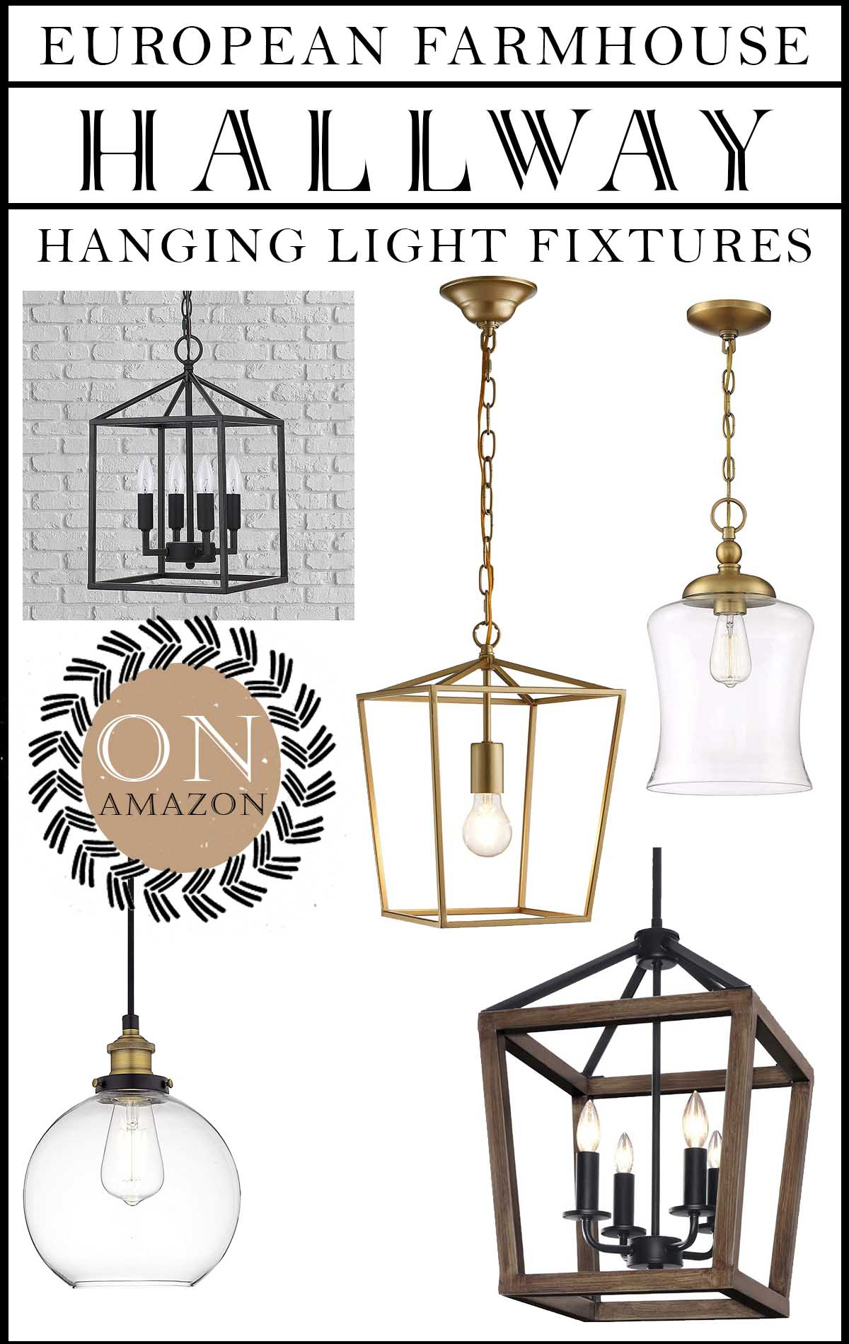 hallway hanging light fixtures on amazon