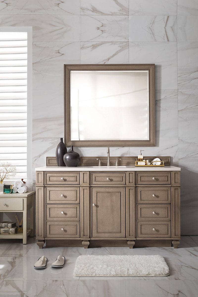 wood classic elegant bathroom vanity