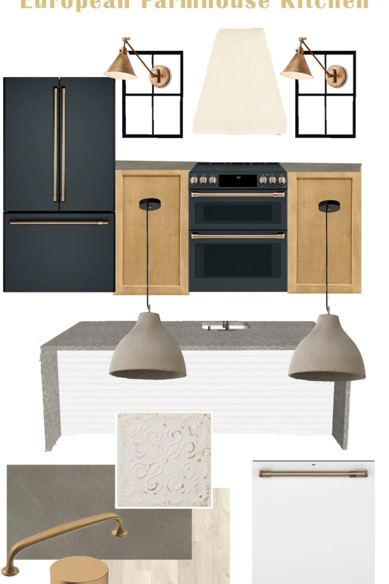European Farmhouse Kitchen Design Board