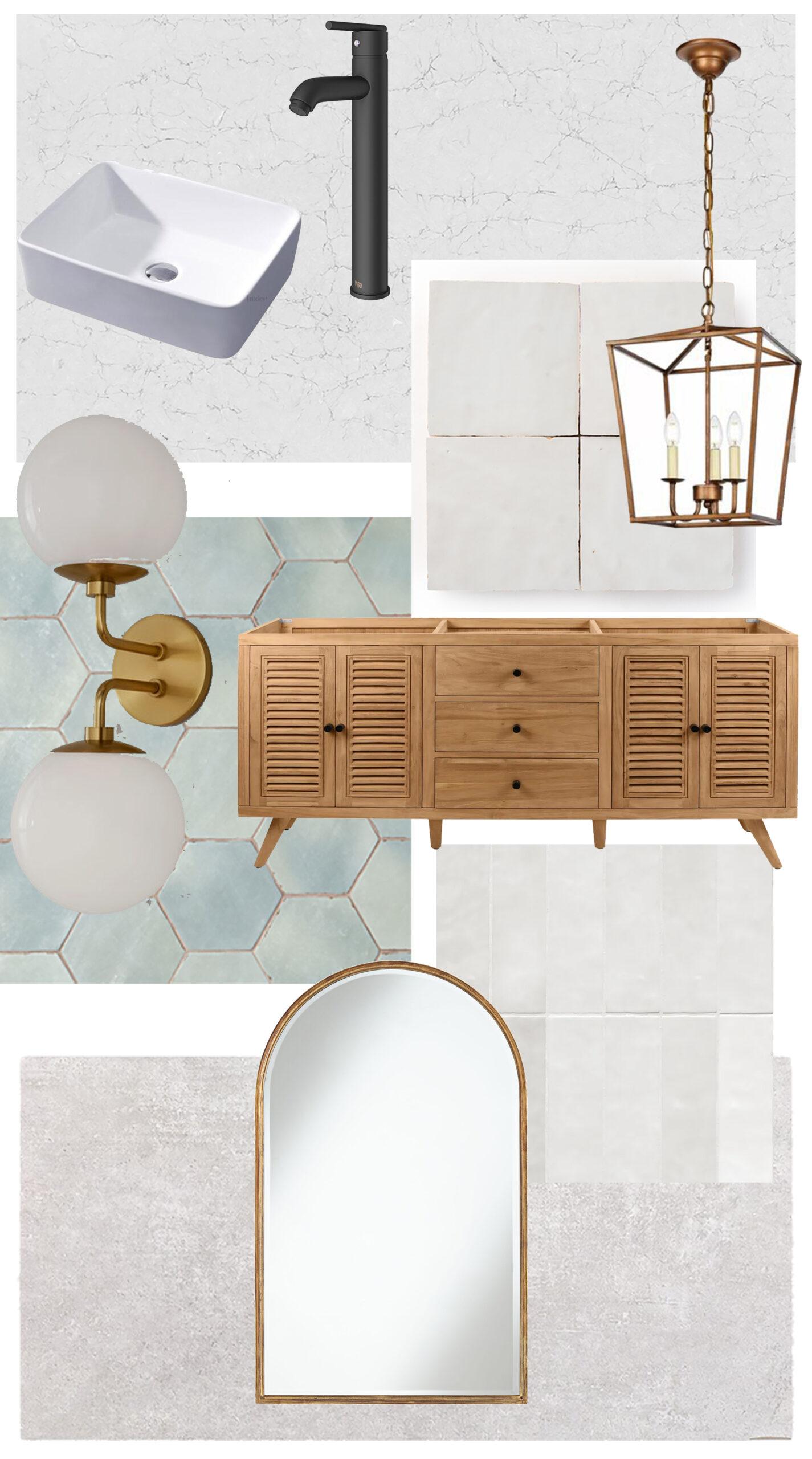European Farmhouse Bathroom Tile Selection