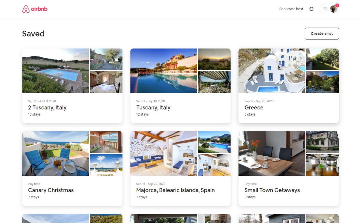 finding tuscan airbnb's on Airbnb.com