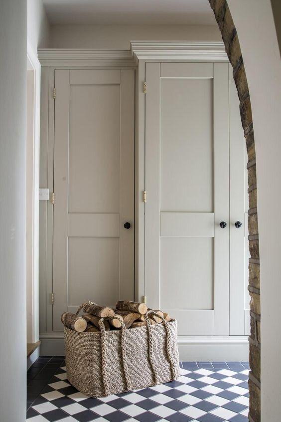 light gray neutral door color