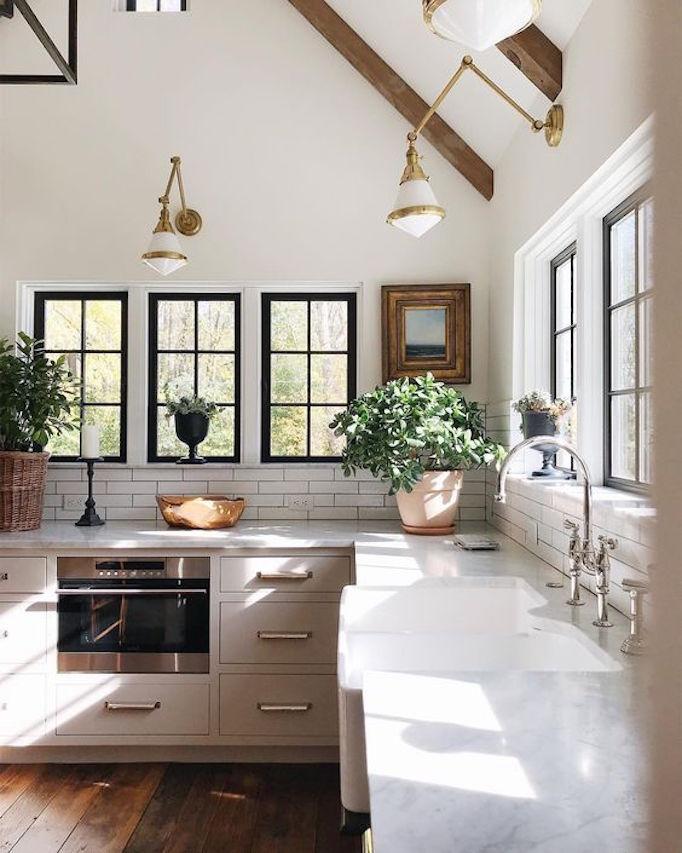 Jean Stoffer Design white timeless kitchen