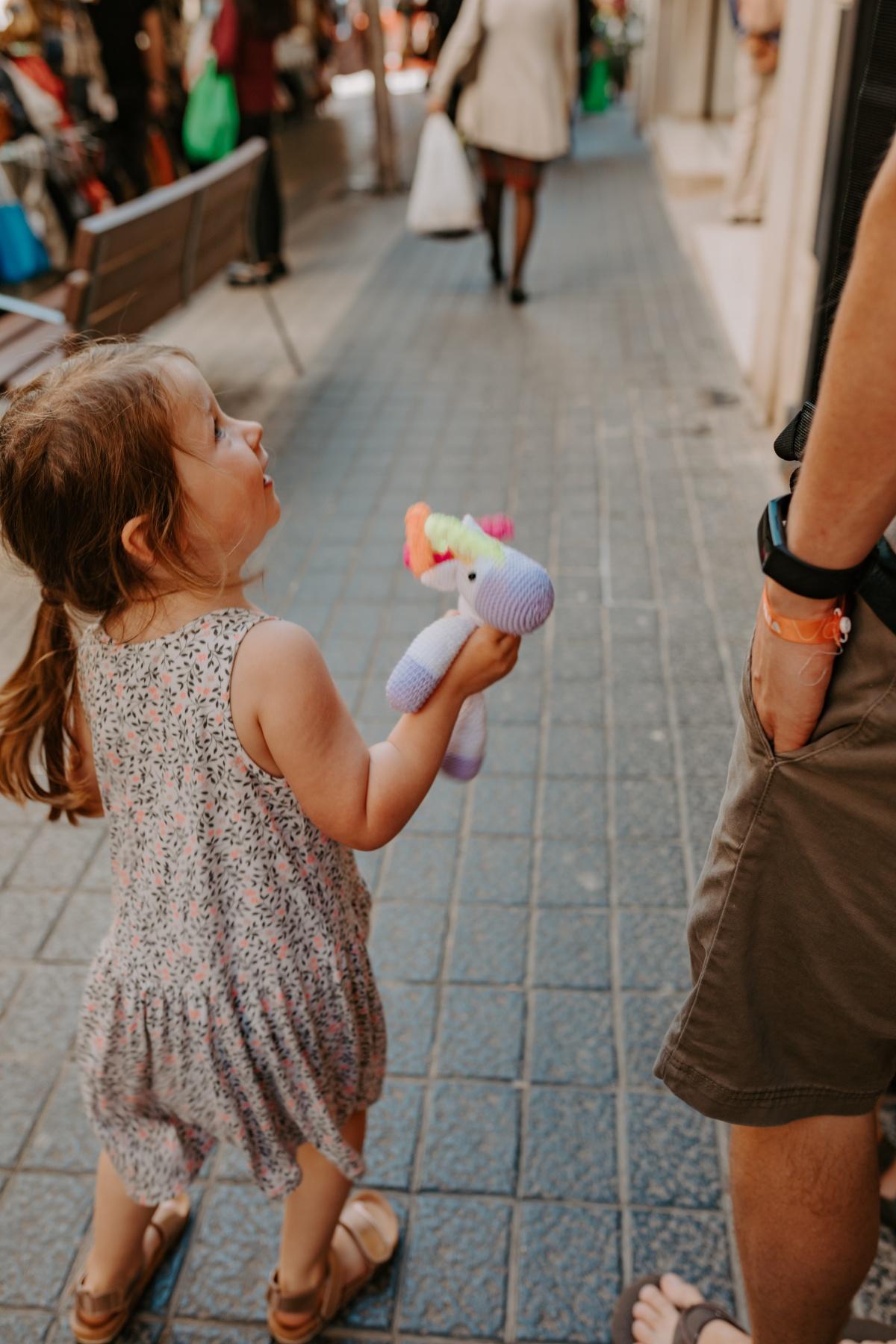 Unique children gifts in Inca Market in Mallorca Spain