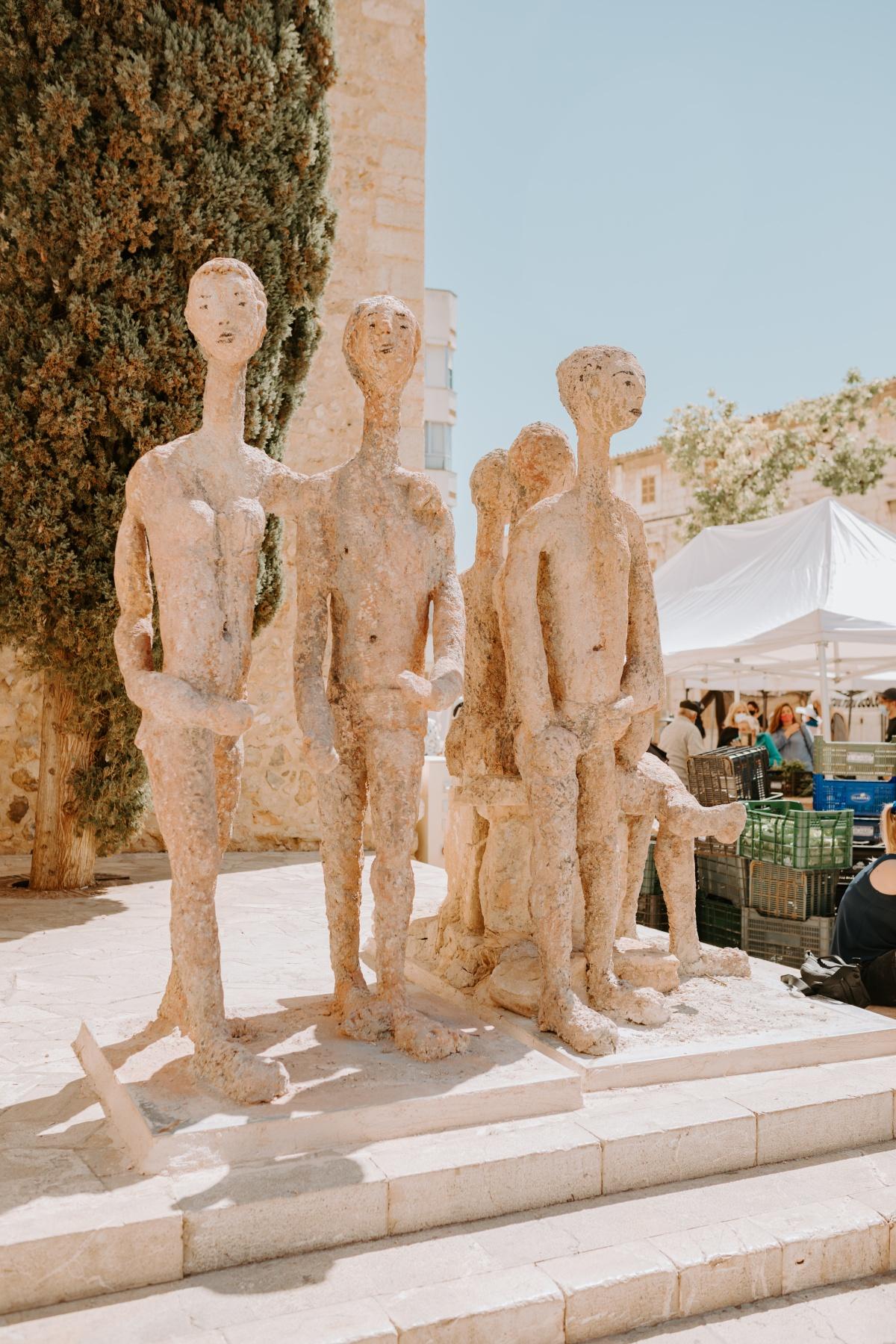Statues in Inca, Spain Mallorca