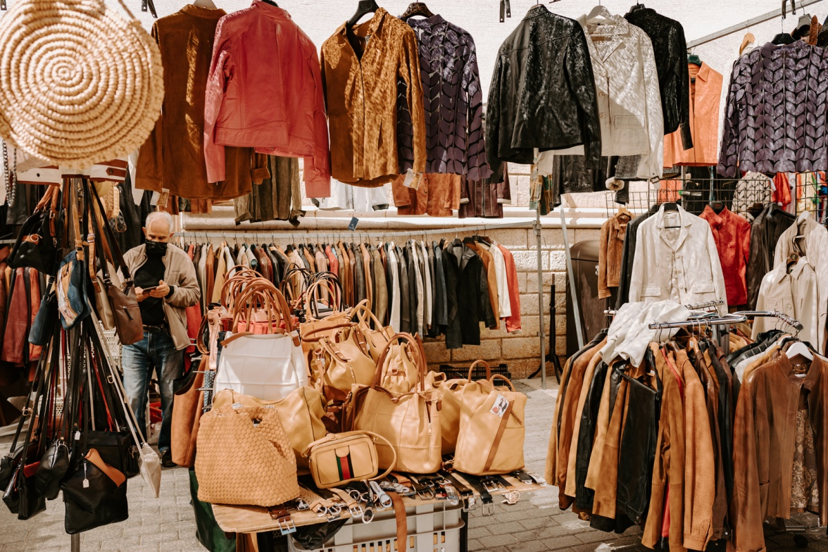 Leather jacket gifts to shop at the Inca Market in Mallorca Spain