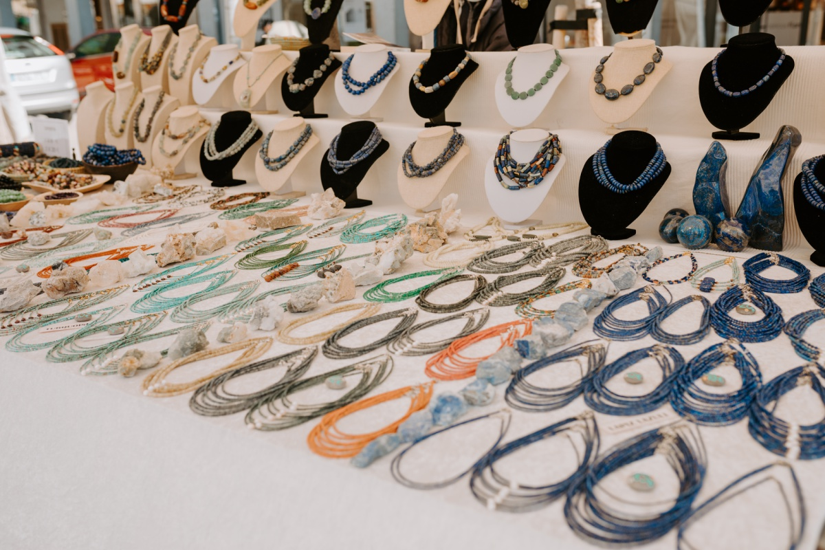 Jewelry gifts to shop at the Inca Market in Mallorca Spain
