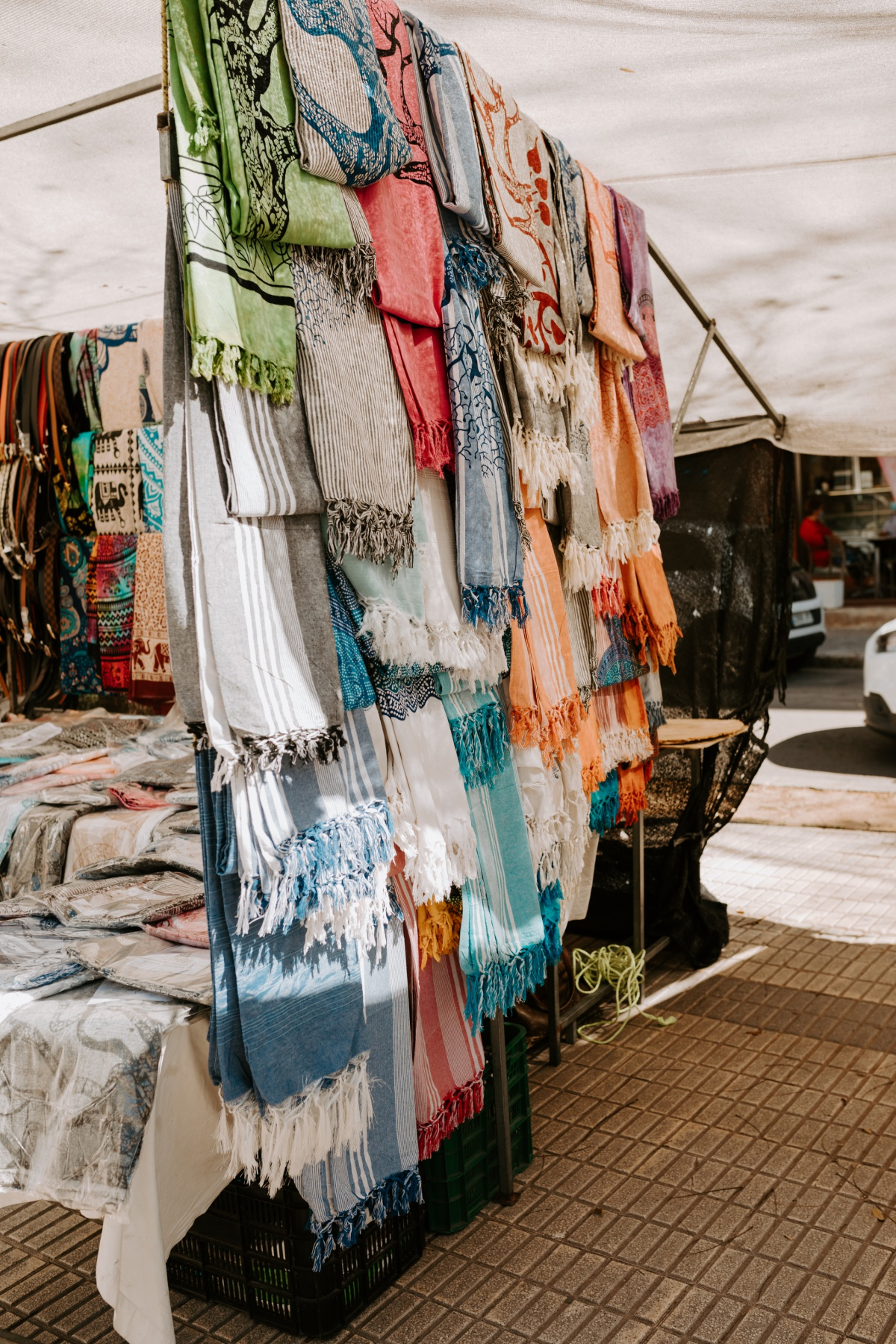 textile gifts to shop at the Inca Market in Mallorca Spain