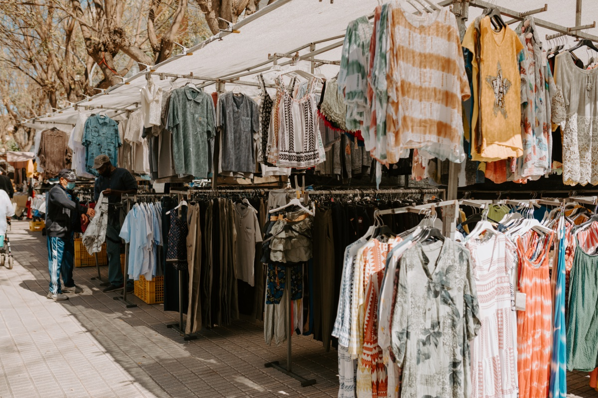 Clothing gifts to shop at the Inca Market in Mallorca Spain
