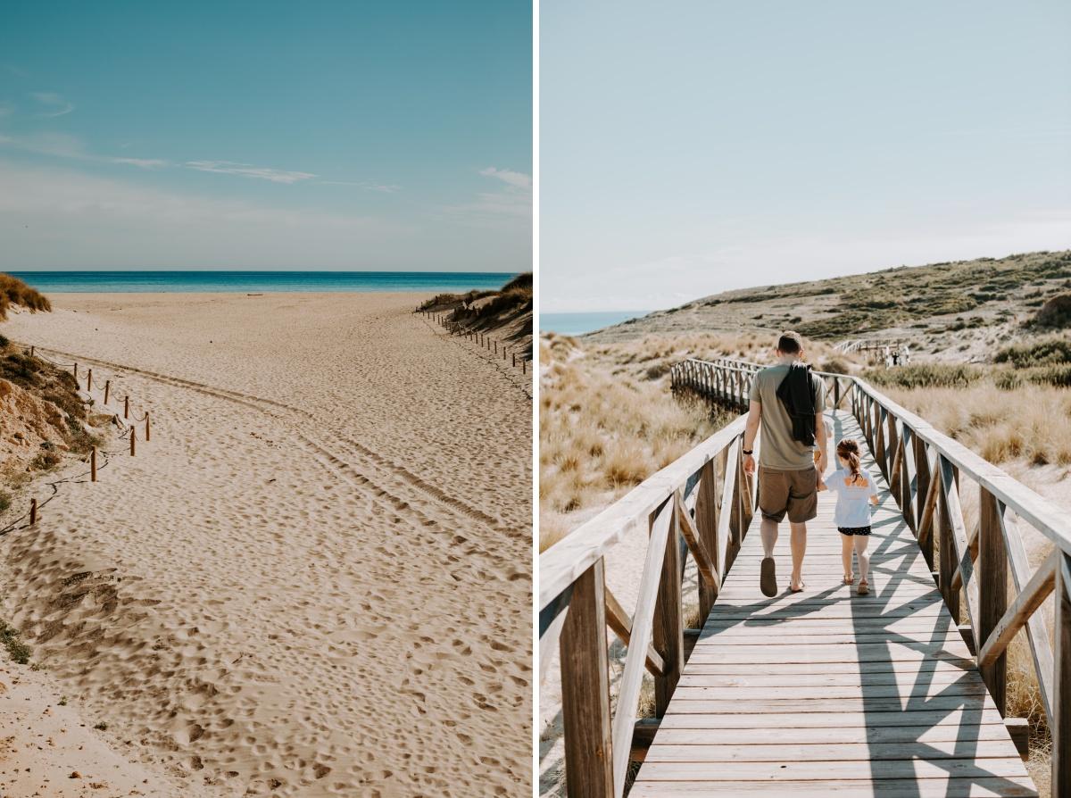 Viva Cala Mesquida Resort beach and boardwalk with kids