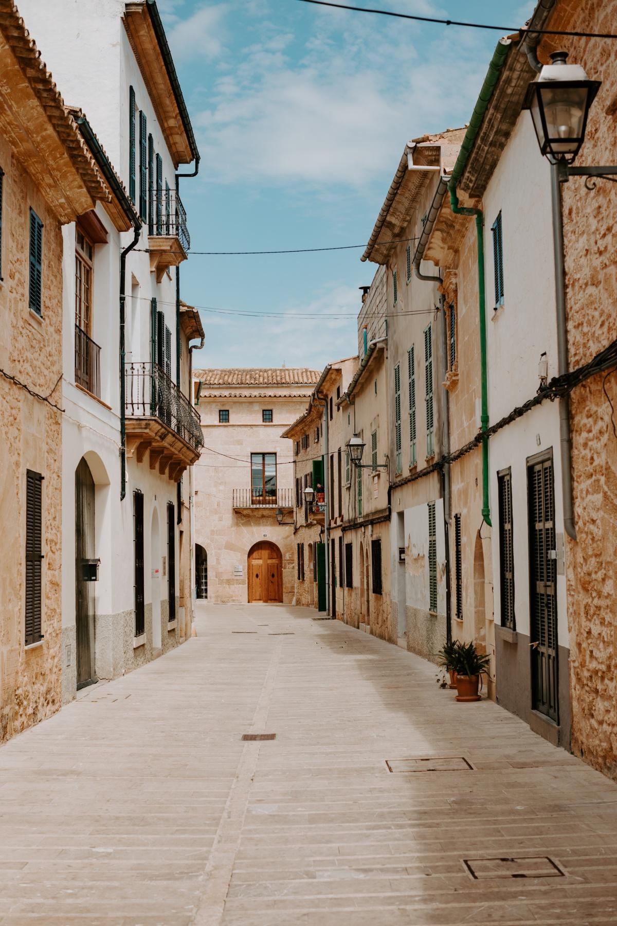 Old spanish architecture in Alcudia Spain