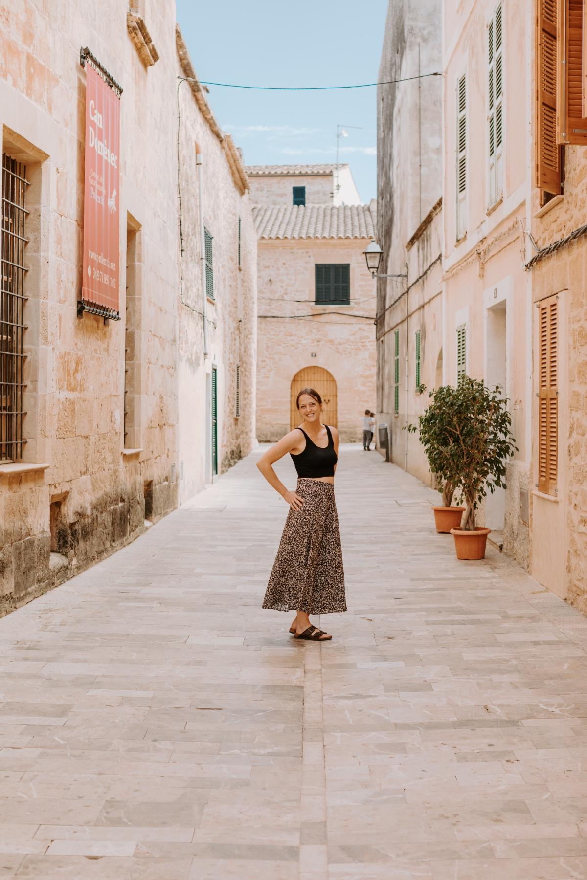 Taking photos in Alcudia Mallorca Spain