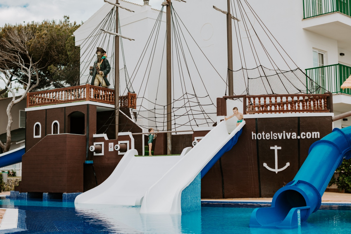 Viva Cala Mesquida Resort pirate pool kid experience for family vacation