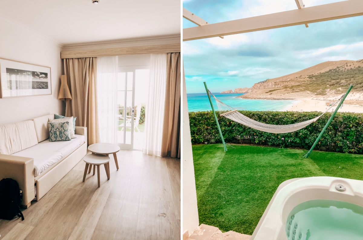 Viva Cala Mesquida Resort sea view suite room for family vacation all inclusive jacuzzi room